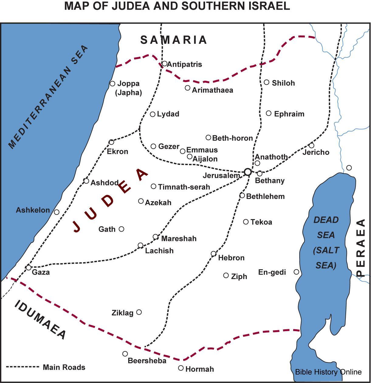 júdea térkép Az ókori Júdea térkép   Térkép Júdea során Jézus idő (Izrael)