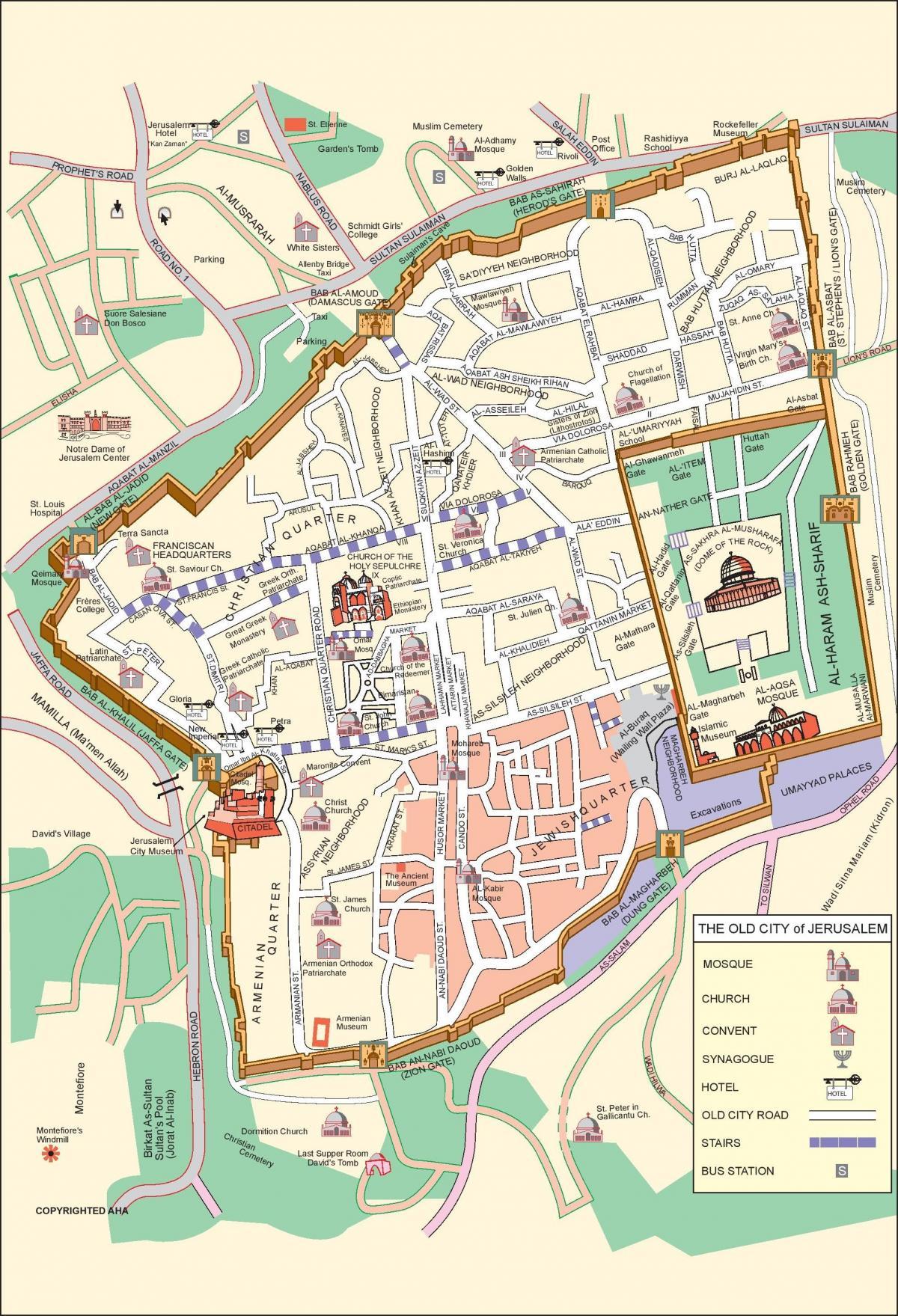 g térkép A régi város, Jeruzsálem térkép   Térkép a régi város, Jeruzsálem  g térkép